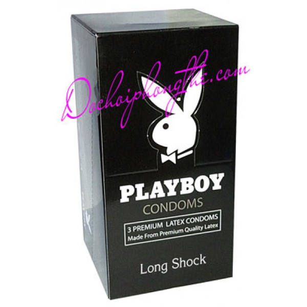 Bao cao su PlayBoy Long Shock 3 in 1 - (BCS75)