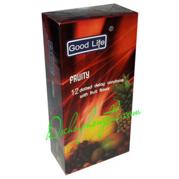 Bao cao su Good Life Fruity 4 in 1 - (BCS80)