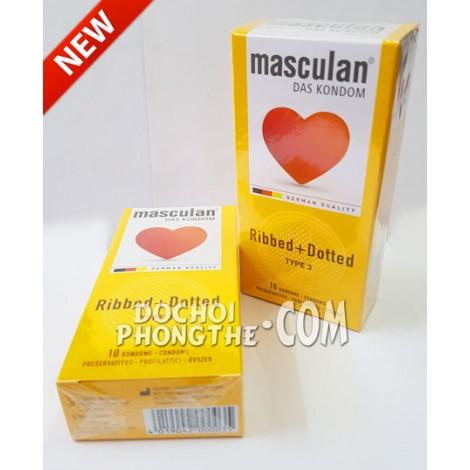 Bao cao su Masculan® Ribbed + Dotted