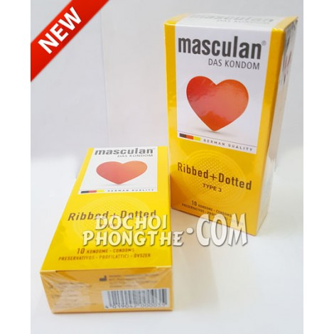 Bao cao su gai gân Masculan® Ribbed + Dotted - (BCS115)