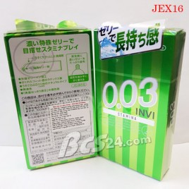 Bao cao su kéo dài thời gian quan hệ Jex Premium 0,03 Invi - (JEX16)