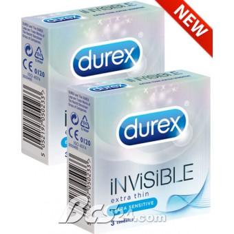 """Bao Cao Su Durex Invisible Extra Thin cảm giác """"thật"""" nhất với độ mỏng nhất - (BCS109)"""