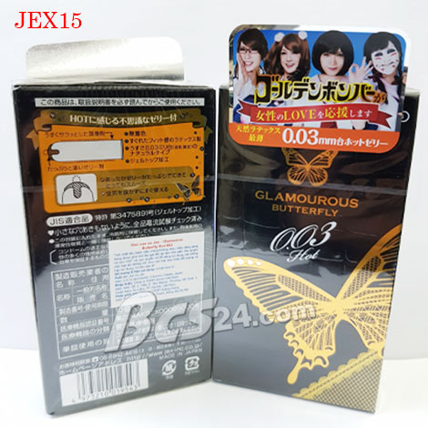 Bao cao su Jex Butterfly Hot 003mm