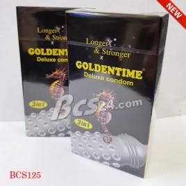 "Bao cao su Goldentime Longer Stronger 3 in 1 kéo dài cuộc ""yêu"" - (BCS125)"