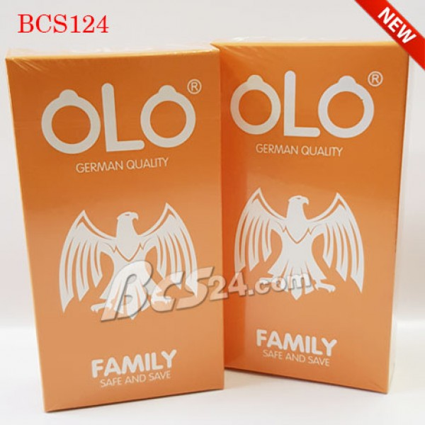 Bao cao su gia đình OLO Family an toàn tiết kiệm - (BCS124)