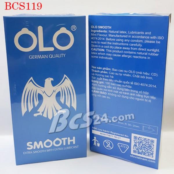 Bao cao su OLO Smooth siêu trơn giá rẻ (Hộp 100c)  - (BCS119)
