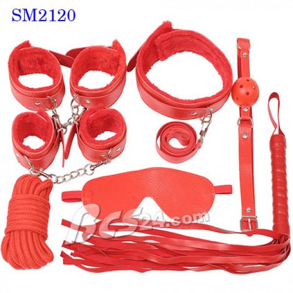 Bộ dụng cụ tình dục bạo dâm 7 in 1 màu đỏ tạo dựng trò chơi mới lạ - (SM2120)