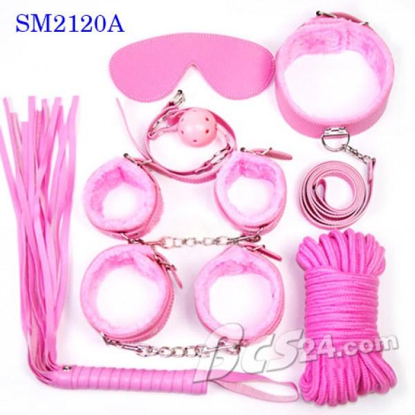 Bộ dụng cụ bạo dâm phòng the 7 in 1 màu hồng tạo dựng trò chơi mới lạ - (SM2120A)