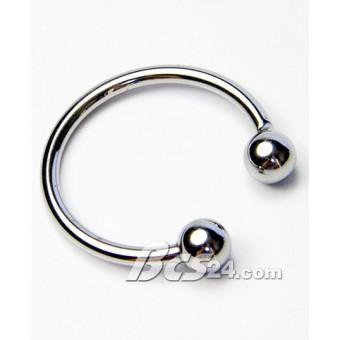 Vòng cock ring đeo dương vật 2 bi inox  - (VG32)