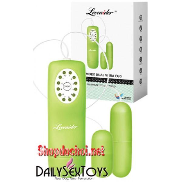 Trứng rung tình yêu hai bộ phận Loveaider 12 chế độ - (TR0027)