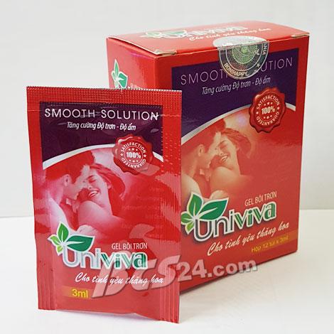 Gel bôi trơn dạng gói UniViva trị chứng khô âm đạo cho nữ giới